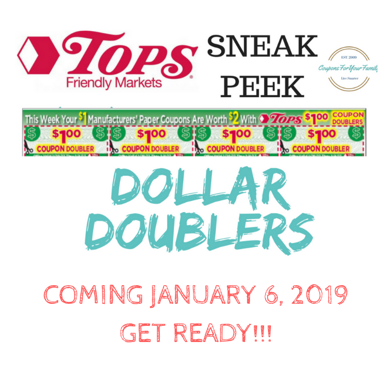 WOOHOOO!!!  Tops DOLLAR DOUBLERS coming week of 1/6!!!! Sign up to get full list of deals coming!!
