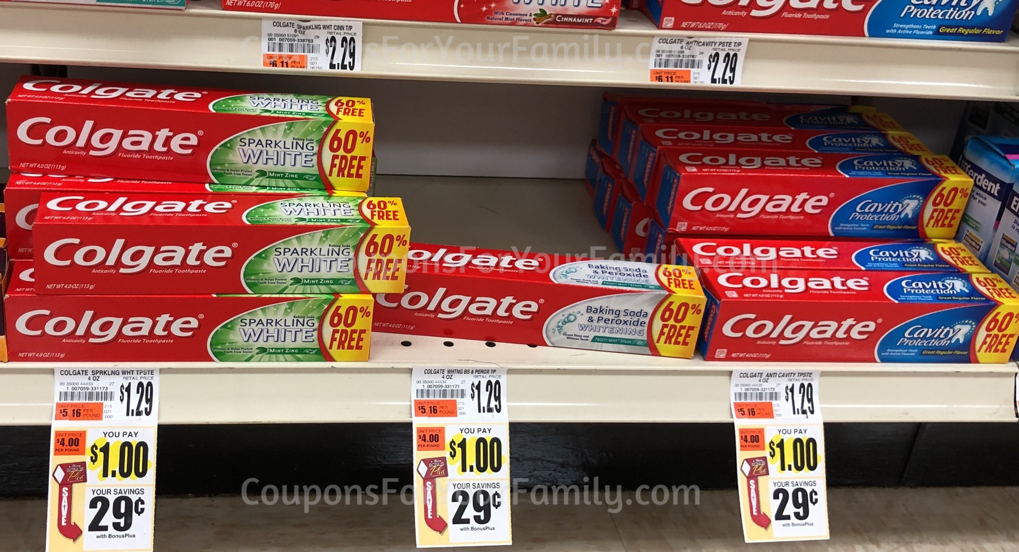 Tops Markets Colgate Toothpaste coupon