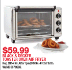 Macys Doorbusters are LIVE NOW – Black & Decker Toaster Oven Air Fryer ONLY $59.99!!!