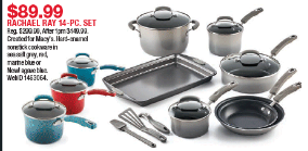Macys Doorbusters are LIVE NOW – Rachael Ray Cookware Set ONLY $89.99!!!