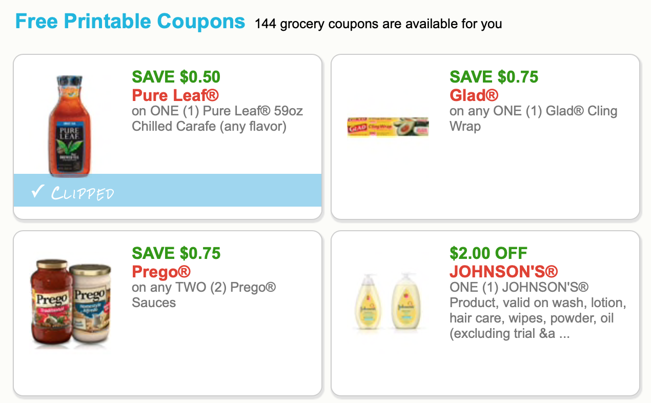clipped coupon