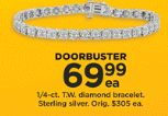 Kohls Doorbuster Deal 2018 LIVE NOW~ 1/4 ct Diamond Bracelet ONLY $69.99!!!