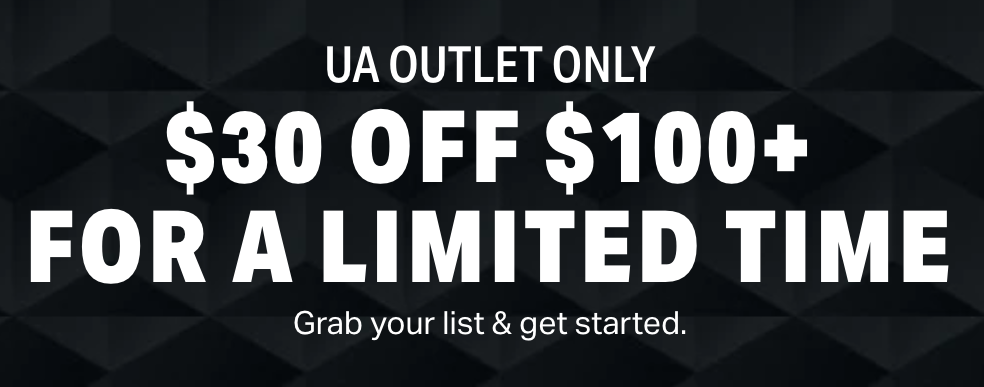 *HOT* Under Armour Coupon Code at Outlet Store: $30 off $100 plus free shipping!!