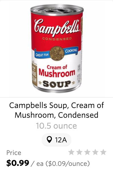 Wegmans Campbells Coupon Cream of Mushroom