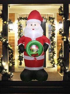 inflatable santa lit