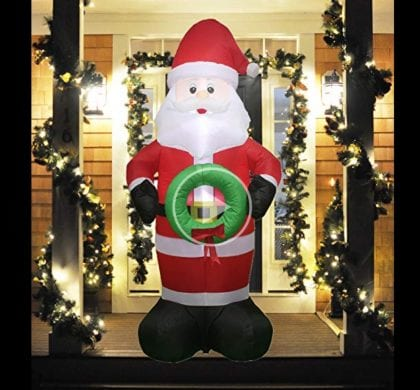 5 ft Inflatable Santa only $37.99 with 5% off Amazon Coupon!