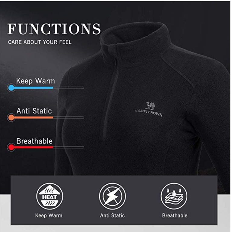 HURRY! FLASH DEAL: Womens Fleece Pullover for only $9.99, 5 colors!