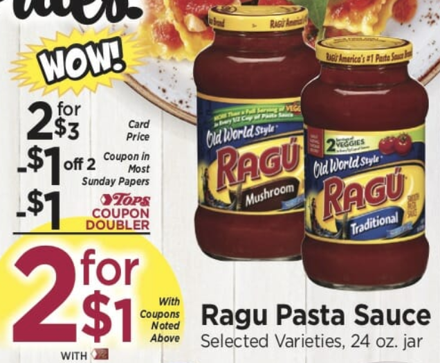 Tops Markets Ragu Coupon Deal
