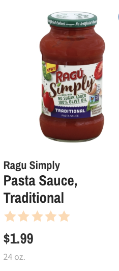 Wegmans Ragu Coupon Deal