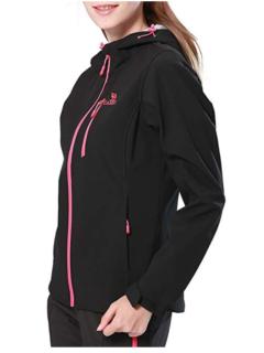 Camel Full Zip Windproof Jacket Black