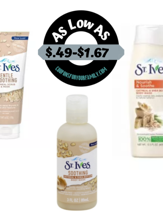 St Ives coupon Deals