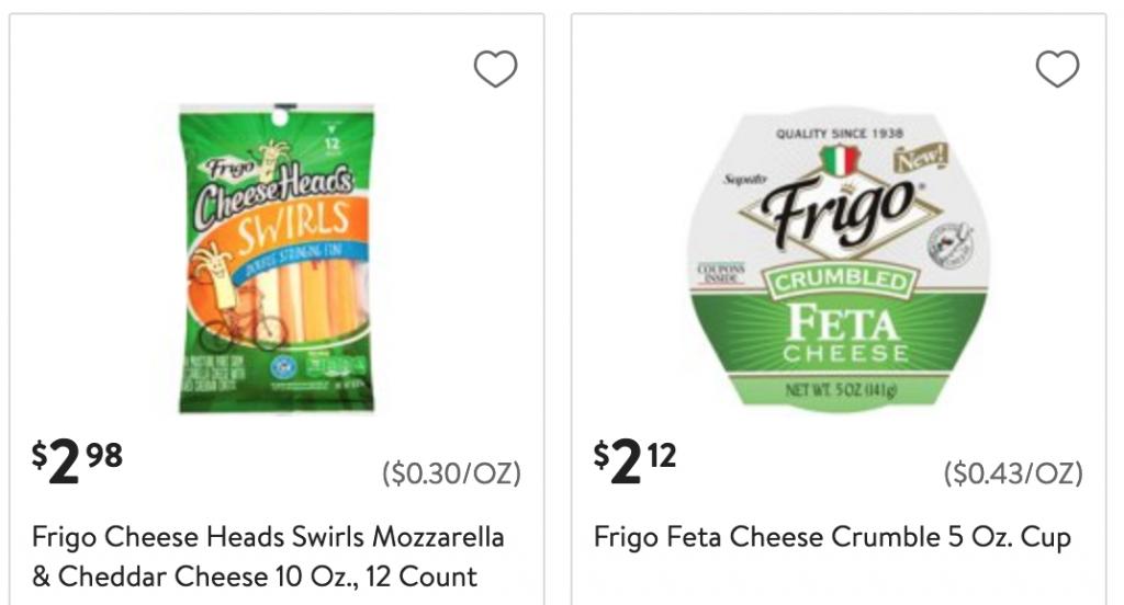 Walmart Frigo Cheese coupon deals