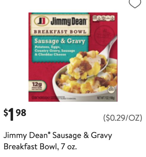 Walmart Jimmy Dean coupon deal