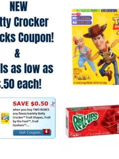 betty crocker fruit snacks coupon