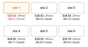 Luvs diaper Deals Sizes