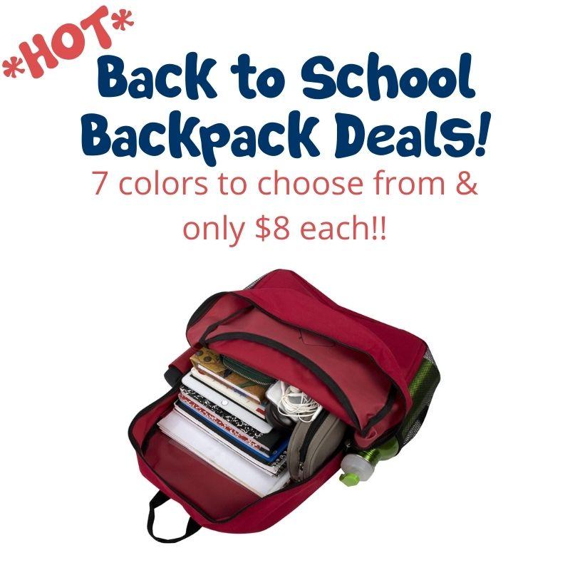 back pack deals