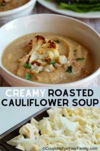 Easy, Healthy, Gluten Free Creamy Roasted Cauliflower Recipe