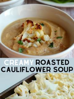 Easy, Healthy, Gluten Free Creamy Roasted Cauliflower Recipe