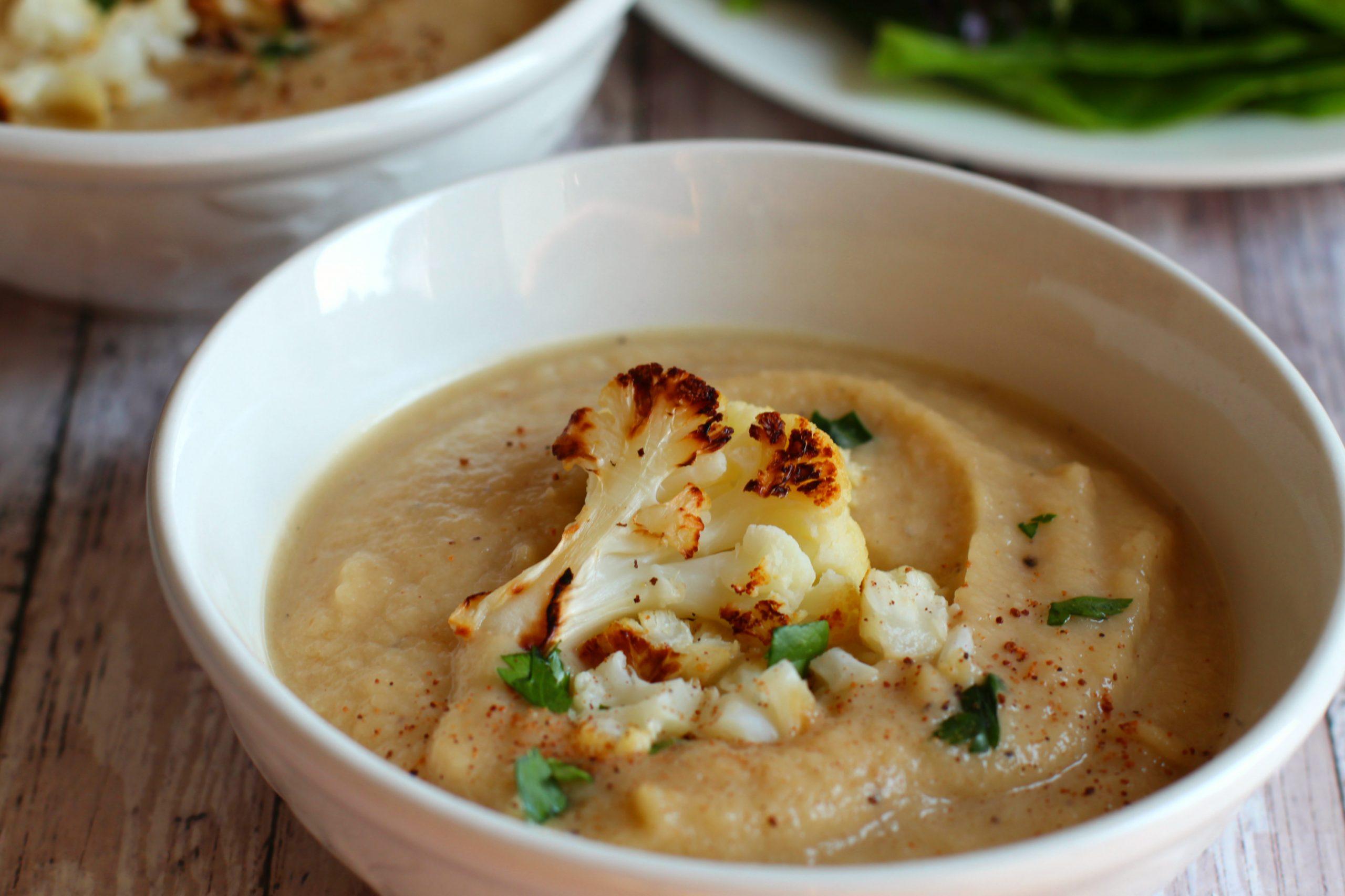 creamy roasted cauliflower soup recipe