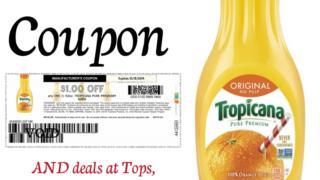 Tropicana orange juice coupon