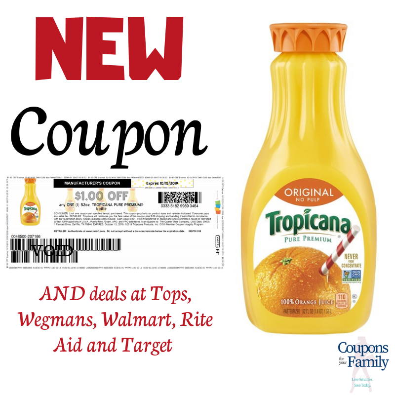 Tropicana orange juice coupon