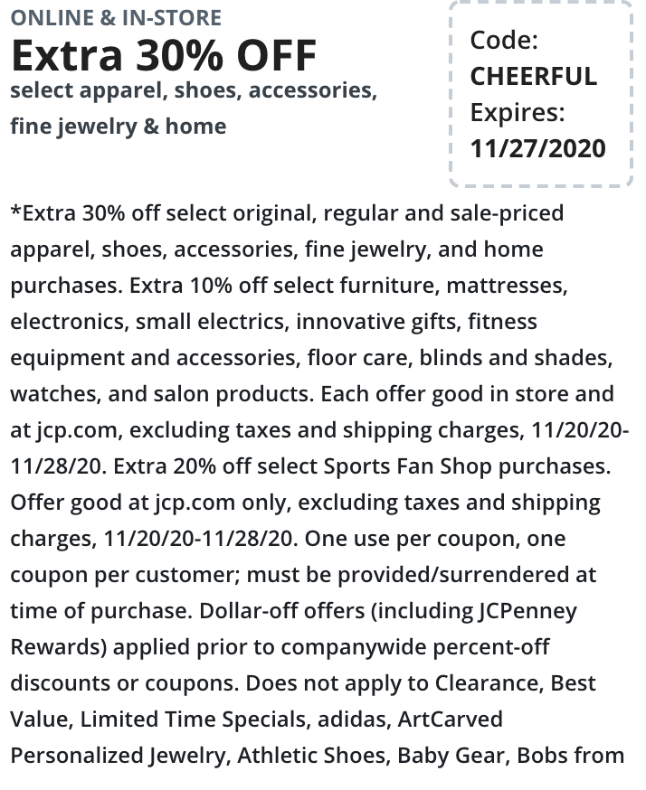 JcPenney Black Friday Coupons