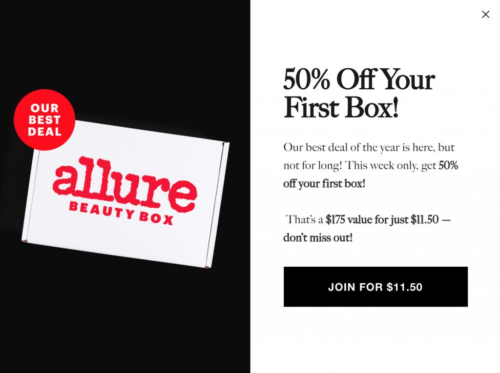 Allure Black Friday Beauty Box