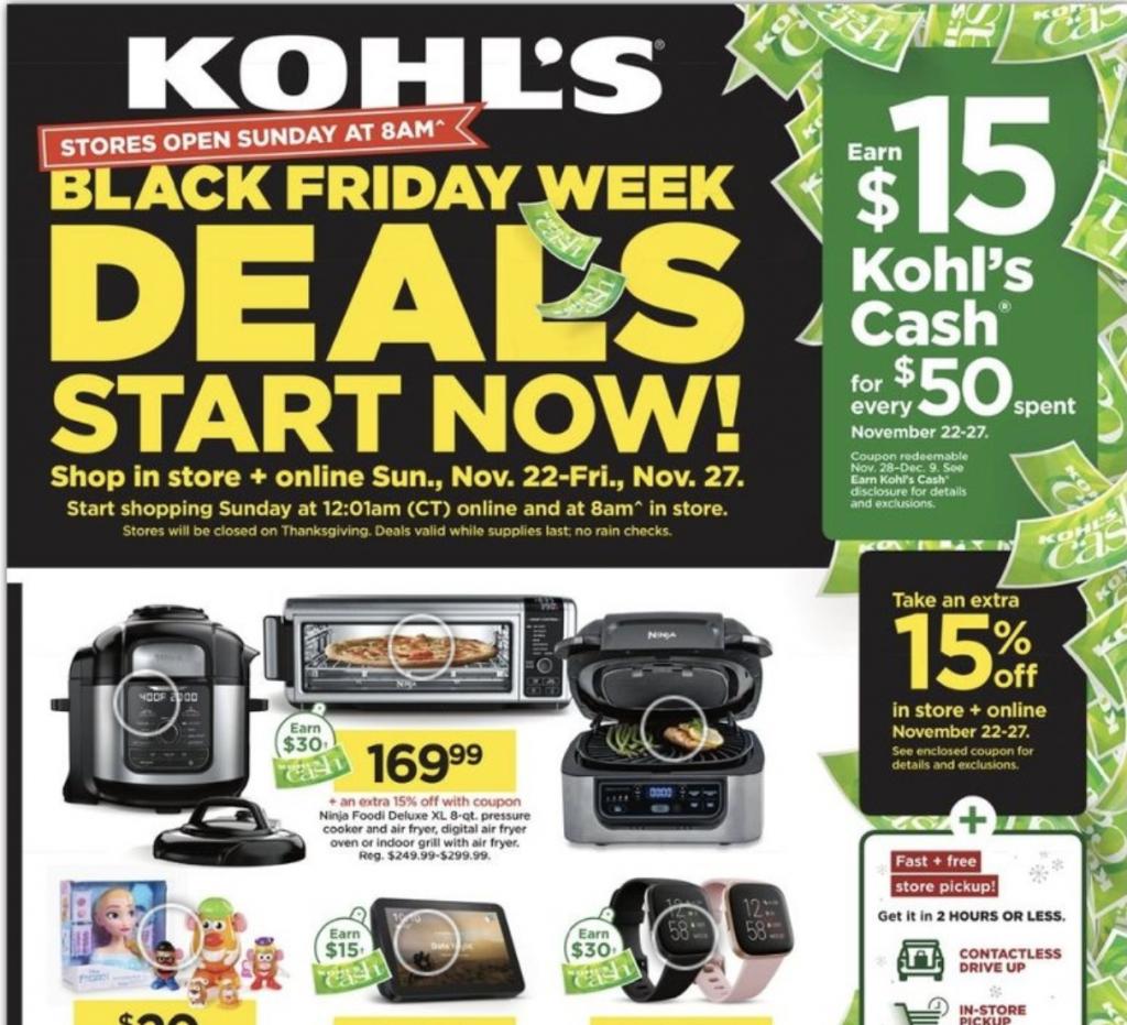 Kohls black friday cyber monday week
