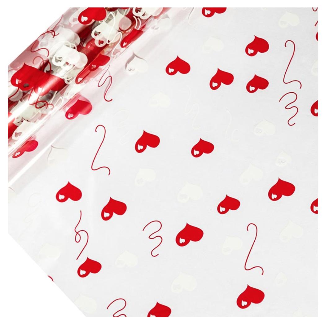 Valentine Heart Cellophane Wrap
