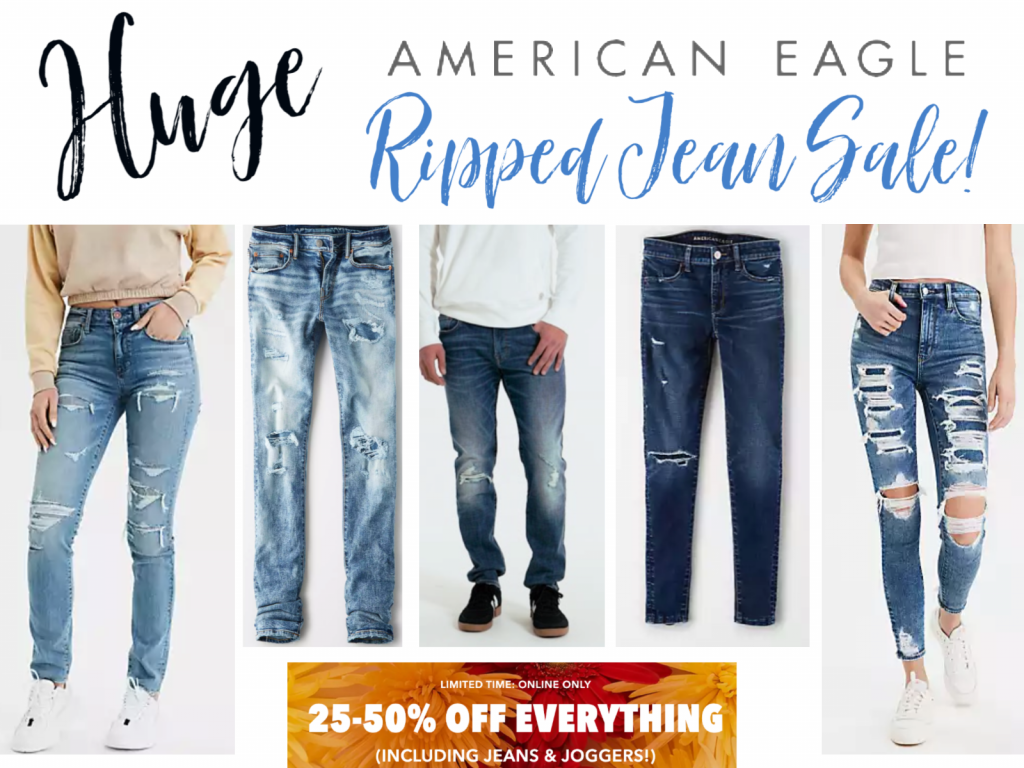 American Eagle Ripped Jeans sale