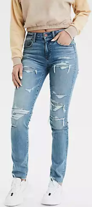 American Eagle Womens Ripped Jeans