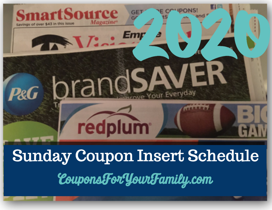 2020 Sunday coupon Insert preview