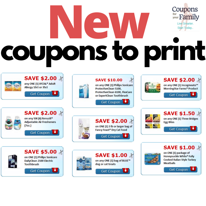 New free printable coupons