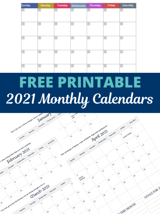 FREE monthly calendars ointerest