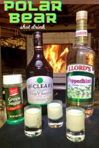 Polar bear shot drink recipe