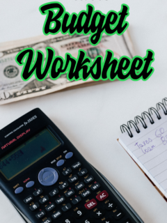 budget worksheet template printable