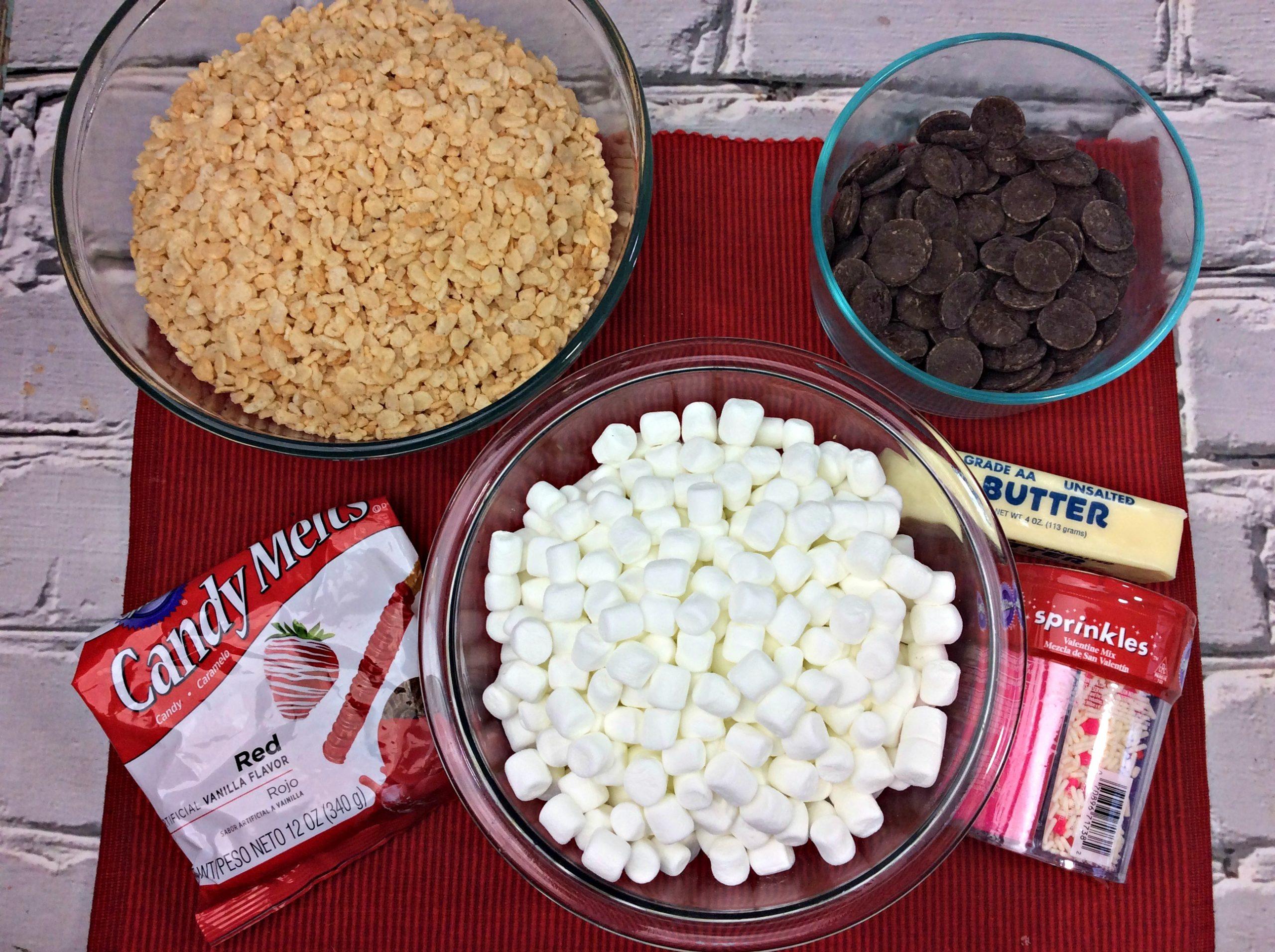 Heart Shaped Rice Krispie Treats Dipped