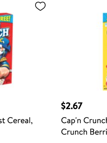 Walmart quaker cereal coupon deals