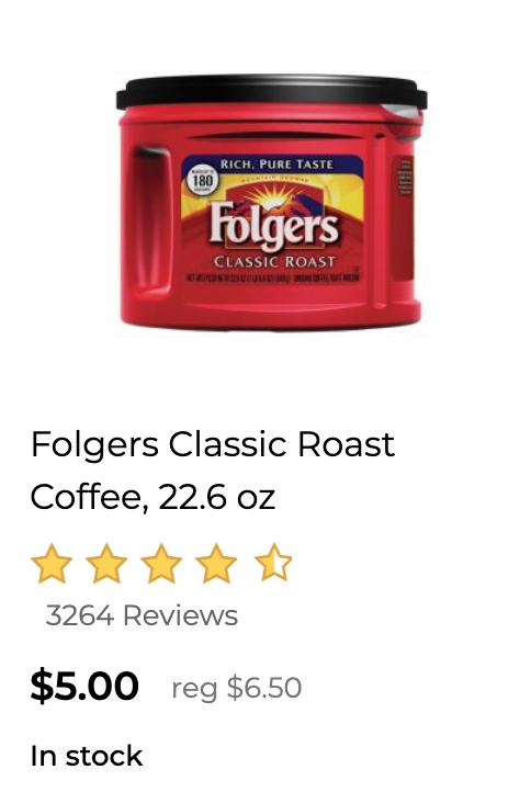 Dollar General Folgers coupon deal