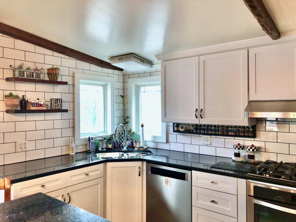 kitchen floating shelves decor