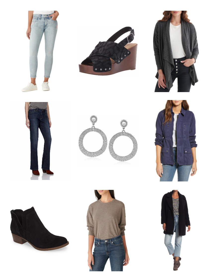 Lucky Brand Jeans, Boots and clothing