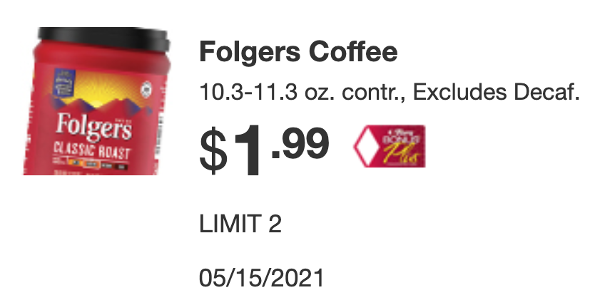 Tops Folgers Coupon Deal