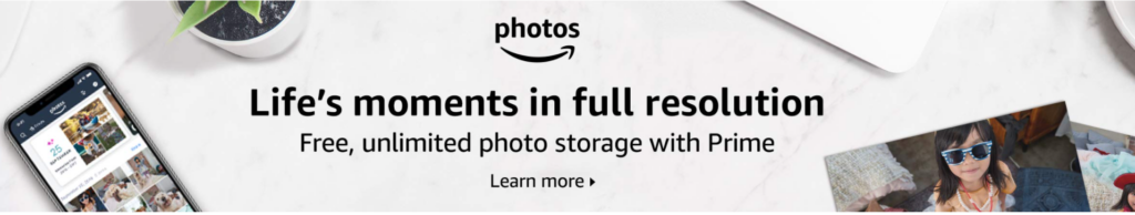 amazon photo free storage