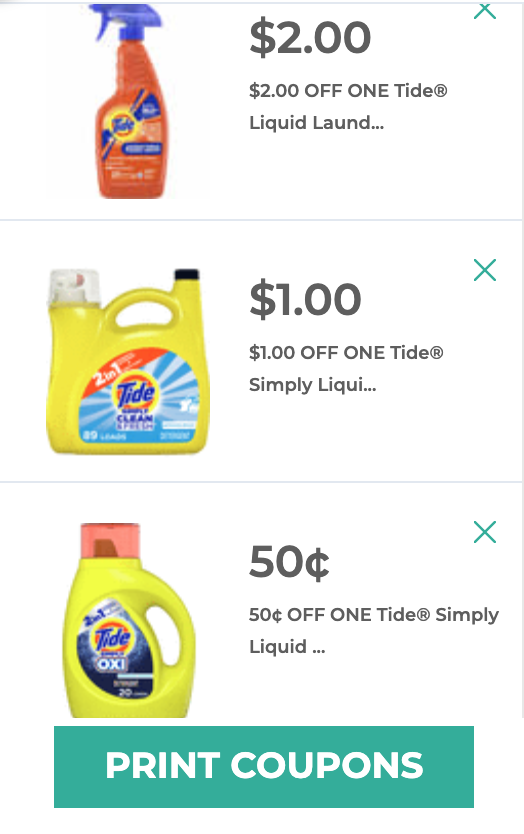 Tide Simply coupons