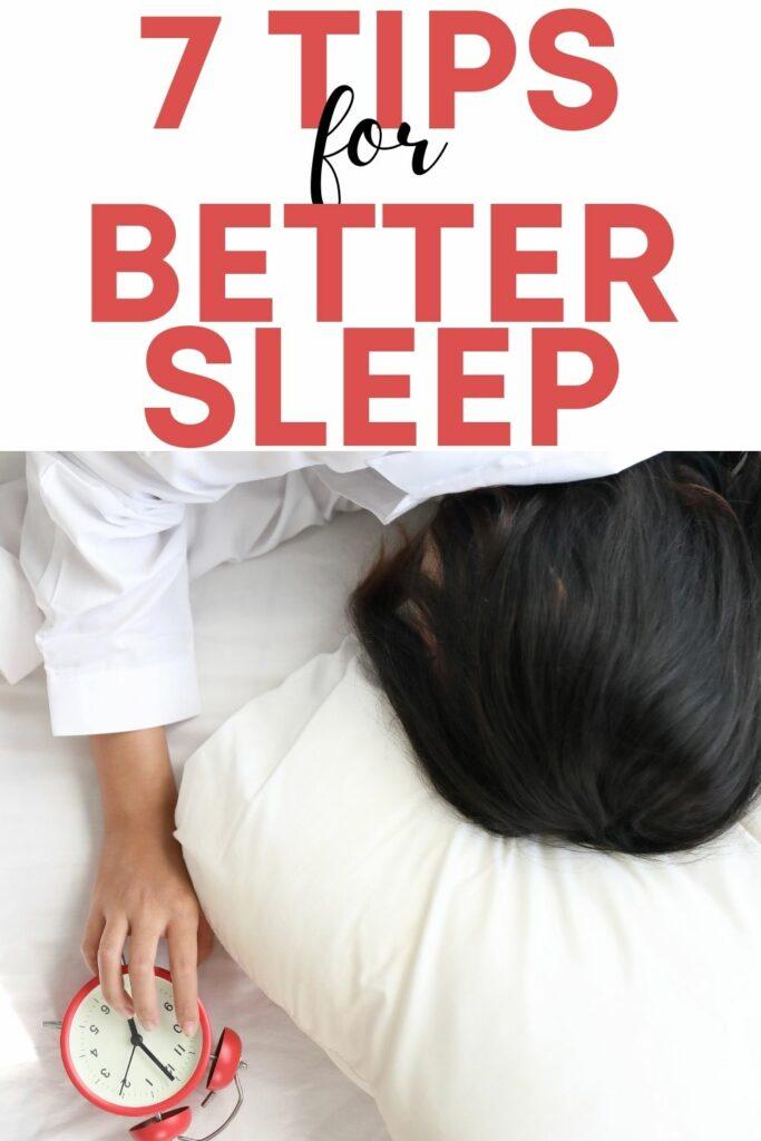 7 tips how to get better sleep