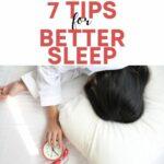 7 Tips for better sleep square