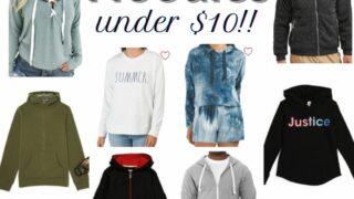 Hoodies under $10