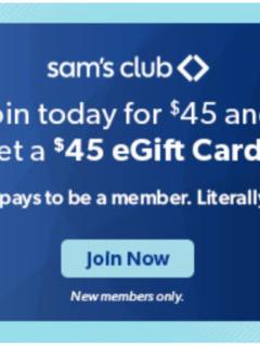 Sams Club Membership Deals