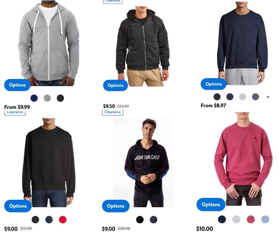 Walmart Mens Sweatshirts under $10